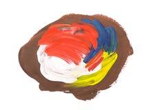 Movimientos coloridos artísticos del cepillo de la acuarela foto de archivo