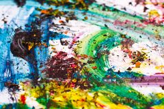 Movimientos coloridos de la pintura - colores vibrantes Fotografía de archivo