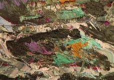 Movimientos coloridos de las pinturas de aceite Foto de archivo