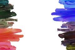 Movimientos coloridos del cepillo Foto de archivo libre de regalías