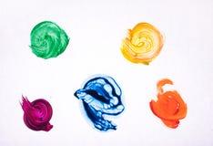 Movimientos coloridos del cepillo aislados imagen de archivo