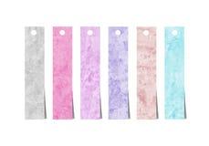 Movimientos coloridos del cepillo de la acuarela Imágenes de archivo libres de regalías