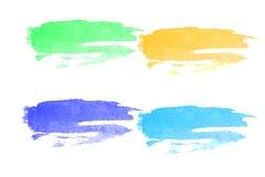 Movimientos coloridos del cepillo de la acuarela Foto de archivo libre de regalías