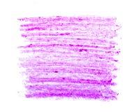 Movimientos coloridos del cepillo de la cera Foto de archivo