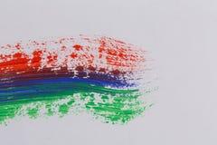 Movimientos coloridos del cepillo de la pintura acrílica Foto de archivo libre de regalías