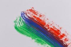 Movimientos coloridos del cepillo de la pintura acrílica Fotografía de archivo libre de regalías