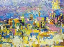 Movimientos coloridos del cepillo de la pintura de aceite Fotografía de archivo