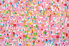 Movimientos de acrílico coloridos del cepillo del color Imagen de archivo