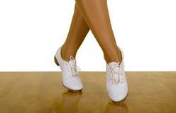 Movimientos de la danza de la Golpear ligeramente-Tapa/de estorbo Fotos de archivo
