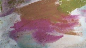 Movimientos de la pintura de la acuarela Arte del derramamiento de la tinta Fragmento de las ilustraciones Marco del tema imagen de archivo