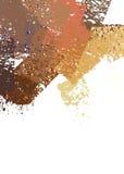 Movimientos de la pintura del cepillo Foto de archivo libre de regalías