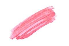 Movimientos de la pintura del lápiz labial aislados en blanco Cosmético aislado en el fondo blanco Movimiento de la mancha Fotos de archivo libres de regalías