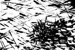 Movimientos de la tinta de Grunge Imagen de archivo libre de regalías