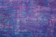 Movimientos de madera pintados lila abstracta del witn de la pared Imagen de archivo