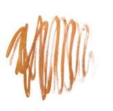 Movimientos de oro dibujados mano abstracta del cepillo del Grunge Pinte la textura GR Foto de archivo