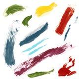 Movimientos del cepillo Foto de archivo libre de regalías