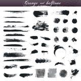 Movimientos del cepillo de Grunge Fotos de archivo