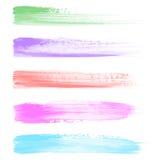 Movimientos del cepillo de la acuarela Fotografía de archivo