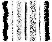 Movimientos del cepillo de la tinta de Grunge Foto de archivo