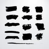 Movimientos del cepillo del Grunge Foto de archivo