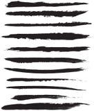 Movimientos del cepillo del vector Imágenes de archivo libres de regalías