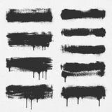 Movimientos del cepillo del vector Fotografía de archivo libre de regalías