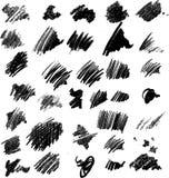 Movimientos del cepillo del vector Imagen de archivo