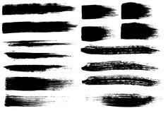 Movimientos del cepillo fijados Fotografía de archivo