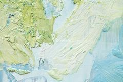 Movimientos del color de aceite libre illustration