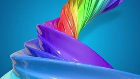 Movimientos del flujo de la pintura en un círculo Fondo creativo colorido del extracto con la corriente de las pinturas de aceite almacen de video