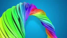 Movimientos del flujo de la pintura en un círculo Fondo creativo colorido del extracto con la corriente de las pinturas de aceite almacen de metraje de vídeo