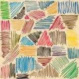 Movimientos del lápiz del vector Líneas a mano Stock de ilustración