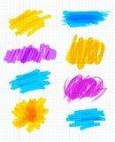 Movimientos del marcador del Highlighter Imagenes de archivo