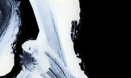 Movimientos expresivos blancos del cepillo para los fondos creativos, innovadores, interesantes en estilo del zen Imagen de archivo libre de regalías