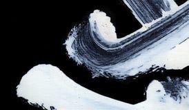 Movimientos expresivos blancos del cepillo para los fondos creativos, innovadores, interesantes en estilo del zen Fotos de archivo