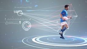 Movimientos futuristas de los atletas de seguimiento de la tecnología ilustración del vector