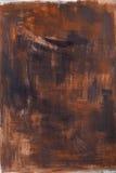 Movimientos marrones pintados del fondo Foto de archivo