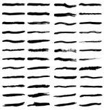 Movimientos negros del cepillo Imagen de archivo