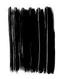 Movimientos negros vectorizados de la pintura Imagen de archivo libre de regalías