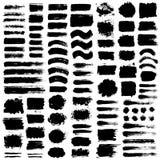Movimientos pintados del cepillo del Grunge de los fondos Fotos de archivo libres de regalías