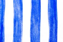 Movimientos pintados a mano del cepillo de la acuarela, línea, banderas En el fondo blanco Imagen de archivo