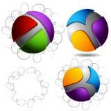 Movimientos rizados de la pluma de las esferas abstractas Fotografía de archivo libre de regalías
