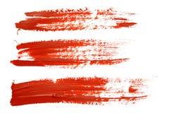 Movimientos rojos del cepillo Foto de archivo libre de regalías