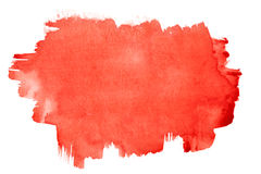 Movimientos rojos del cepillo de la acuarela Fotografía de archivo libre de regalías
