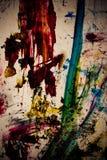 Movimientos sucios del color de la pintura Fotografía de archivo
