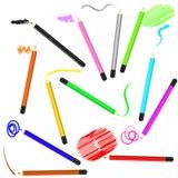 Movimientos y fondo coloreados del pensil Imagen de archivo