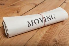 moving газета Стоковое Изображение RF