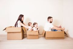 Moving день дома Стоковые Фотографии RF