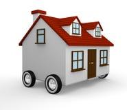 Moving дом иллюстрация штока