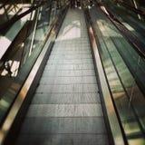 moving лестницы Художнический взгляд в винтажных ярких цветах Стоковое Изображение